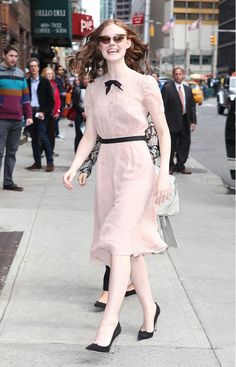 Elle Fanning. #Modest doesn't mean frumpy. #DressingWithDignity www.ColleenHammond.com www.TotalimageInstitute.com