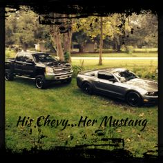 Chevy Trucks & Ford Mustang !!! Fast cars & jacked up trucks is the way I like it !!!
