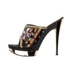 "Casadei ""CRYSTAL LOVERS"" Limited Edition platform sandals | 1stdibs.com"