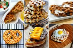"""""""Will it Waffle""""??  Everything you can think of to cook in waffle iron...cool!"""