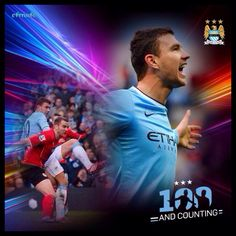 Edin Džeko wallpaper '100th goal' celebration #mcfc #manchester #city