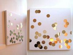 Confetti canvas diy wall art.