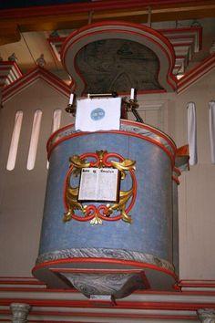 Interior of Vinje kyrkje, Telemark, Norway (Torgerson ancestors).