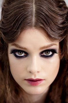 Smoky eyes for Dark and Stormy Dress on Lily: http://www.elle.com/beauty/hair/best-in-show-fall-2011-572733#slide-1