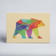 Budi Satria Kwan - Fractal Geometric Bear - Canvas