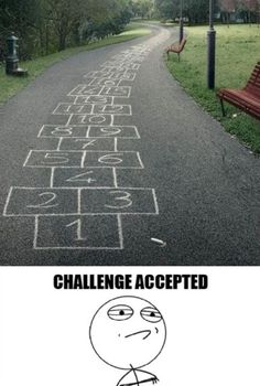 "This would be fun to do, just to watch and see how many people decide ""Challenge Accepted"""