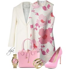 A fashion look from March 2015 featuring Victoria Beckham dresses, Michael Kors tote bags and Michael Kors watches. Browse and shop related looks.