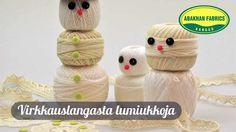 Virkkauslangasta lumiukkoja / Abakhan Fabrics