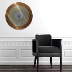 Vibrations in Copper - Functional Mid-Century Modern Metal Wall Art - Abstract Contemporary Metal Wall Clock by Jon Allen - Hollywood Room, Modern Metal Wall Art, Mid-century Modern, Contemporary, Clock Art, Gold Kitchen, Kitchen Decor, Metal Walls, Modern Interior Design