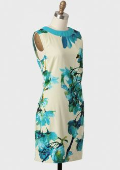 Flowers Pick Themselves Dress By Knitted Dove | Modern Vintage Dresses | Modern Vintage Clothing