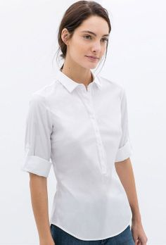 White Lapel Long Sleeve Buttons Blouse - Sheinside.com