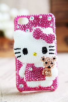 hello kitty bling phone cover