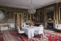 Badminton House , dining room , England