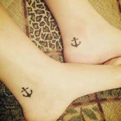 Friendship anchor tattoo