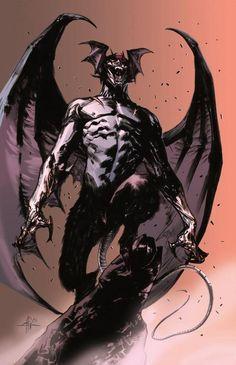 Devilman by Gabriele Dell'Otto, colours by Stefano Simeone *