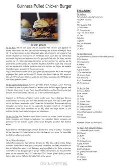 Pulled Chicken Guinness Burger mit Coleslaw und Cheddar   Das Knusperstübchen
