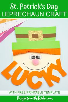Leprechaun Craft for Kids to Make - Kids will have fun making this adorable paper leprechaun craft for St. Patrick's Day. Craft Projects For Kids, Crafts For Kids To Make, Craft Activities For Kids, Preschool Crafts, Art For Kids, Craft Kids, St Patricks Day Crafts For Kids, St Patrick's Day Crafts, Holiday Crafts