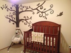 My nephew and his wife are expecting.  I'm going to be a GREAT Aunt.  This is the babies room.