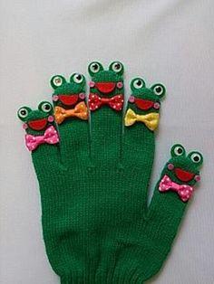 子ども向け手作りキットかえるのうた♪ | amicoの手袋シアター