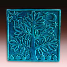 Artículos similares a Family Tree Art Tile Anniversary Handmade Pottery Personalized Relief Carved Wedding Registry Gift IN STOCK en Etsy Azulejos Art Nouveau, Art Nouveau Tiles, Ceramic Pottery, Pottery Art, Ceramic Art, Handmade Tiles, Handmade Pottery, Clay Tiles, Mosaic Tiles