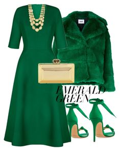 """""""Untitled #32"""" by selvianym on Polyvore featuring Alexandre Birman, MSGM, Marco Bicego and emeraldgreen"""