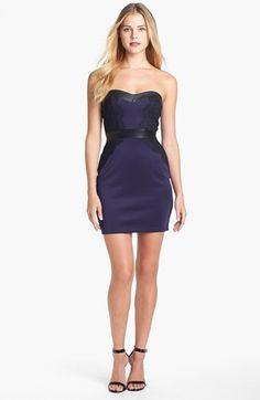Pretty  GUESS Mixed Media Mini Sheath Dress available at #Nordstrom