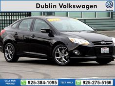 2014 Ford Focus SE Black Call for Price 20675 miles 925-384-1095 Transmission: Automatic  #Ford #Focus #used #cars #DublinVolkswagen #Dublin #CA #tapcars