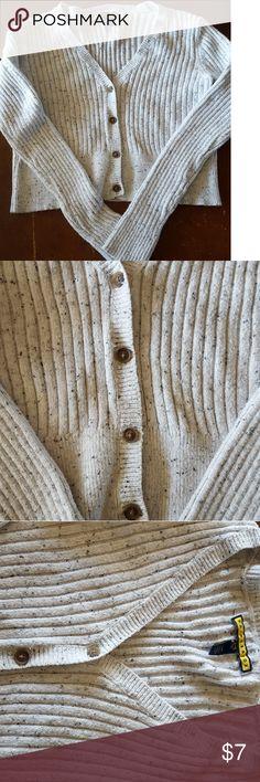 Light grey sweater from aeropostale Light grey crop top V neck sweater bought from aeropostale (size large) Aeropostale Sweaters
