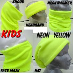 KIDS BOYS GIRLS neon vis bright YELLOW SNOOD NECK WARMER scarf tube ski hat PPE in Clothes, Shoes & Accessories, Kids' Clothes, Shoes & Accs., Boys' Accessories | eBay
