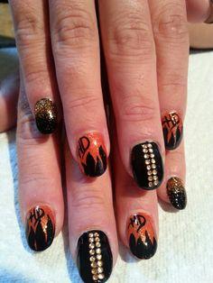 My Harley Nails Done Free Hand Nail Ideas Pinterest Toe