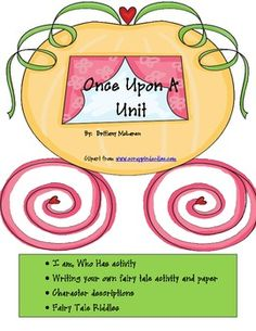 Activities to go along with any fairy tale unit.  I use it with my second grade darlings and they LOVE it!