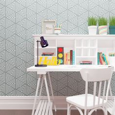 Geometric Wall Stencil-pantry