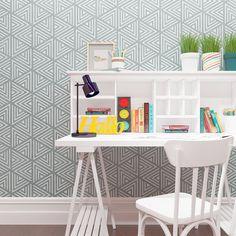 Wall stencil modern geometric wall stencil by StencilsLabNY