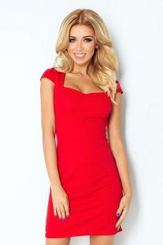 Dámské společenské a casual šaty s krátkým rukávem červené Jarní Oblečení 6905e5fc6d