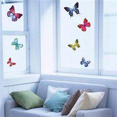 Vinilo decorativo Mariposas Exóticas, multicolor