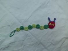 Ravelry: caterpillar pacifier clip pattern by mause zaehnchen
