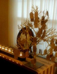 Wishing Tree Guest Book Alternative Centerpiece by thepaperynook