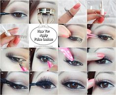 False eyelashes are kind of terrifying if you don't know how to apply them properly.