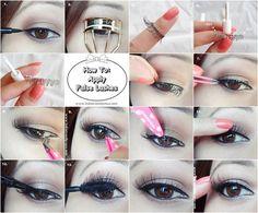 Les faux cils sont un peu terrifiants si vous ne savez pas comment les appliquer correctement. | 27 schémas pour tout savoir sur le maquillage