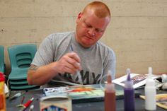 Military Creative Expressions, art therapy through the Wounded Warrior Program for our vets with PTSD. I do an art stroll once a year for them, and find other area events to raise funds for them.