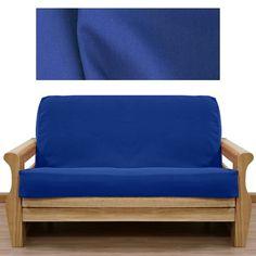 Colonial Blue Twill Futon Cover Sofasleeper Queen Size Mattress Twin