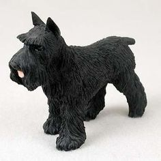 Dog Figurine Schnauzer Black Standard