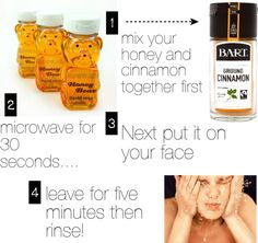 """Honey acne mask"" by harrystyleskitten ❤ liked on Polyvore"