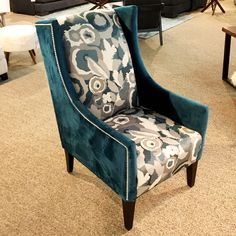 The fabric name is Seduce Turquoise and I would tend to agree!