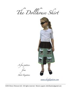 The Dollhouse Skirt is a free skirt pattern from Skirt Fixation. Your girl can take her toys with her when she's wearing the interactive Dollhouse Skirt. Sewing Patterns Free, Free Pattern, Pattern Sewing, Free Sewing, Elastic Waist Skirt, Skirt Tutorial, Your Girl, No Frills, Little Girls