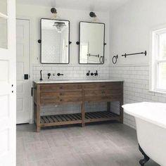 Amazing DIY Bathroom Ideas, Bathroom Decor, Bathroom Remodel and Bathroom Projects to greatly help inspire your master bathroom dreams and goals. Large Bathrooms, Amazing Bathrooms, Master Bathrooms, Farmhouse Bathrooms, Luxury Bathrooms, Bathroom Styling, Bathroom Storage, Bathroom Organization, Bathroom Cleaning