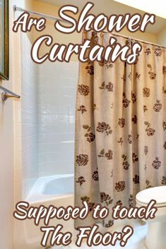 Are Shower Curtains Supposed To Touch The Floor? Article by HomeDecorBliss.com #HDB #HomeDecorBliss #homedecor #homedecorideas