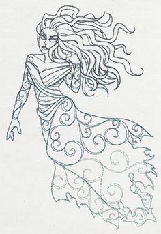 Divine Femme - Banshee | Urban Threads: Unique and Awesome Embroidery Designs