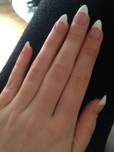 short stiletto nails french tip - Google Search                              …
