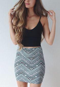 Batik Print Bodycon Mini Skirt